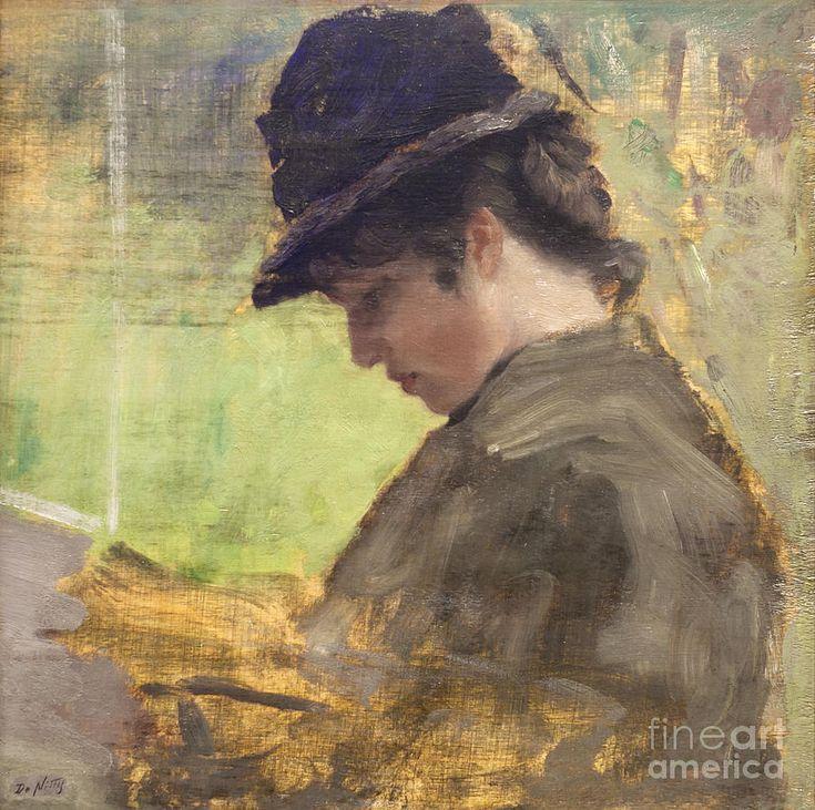 The English Lady By Giuseppe De Nittis