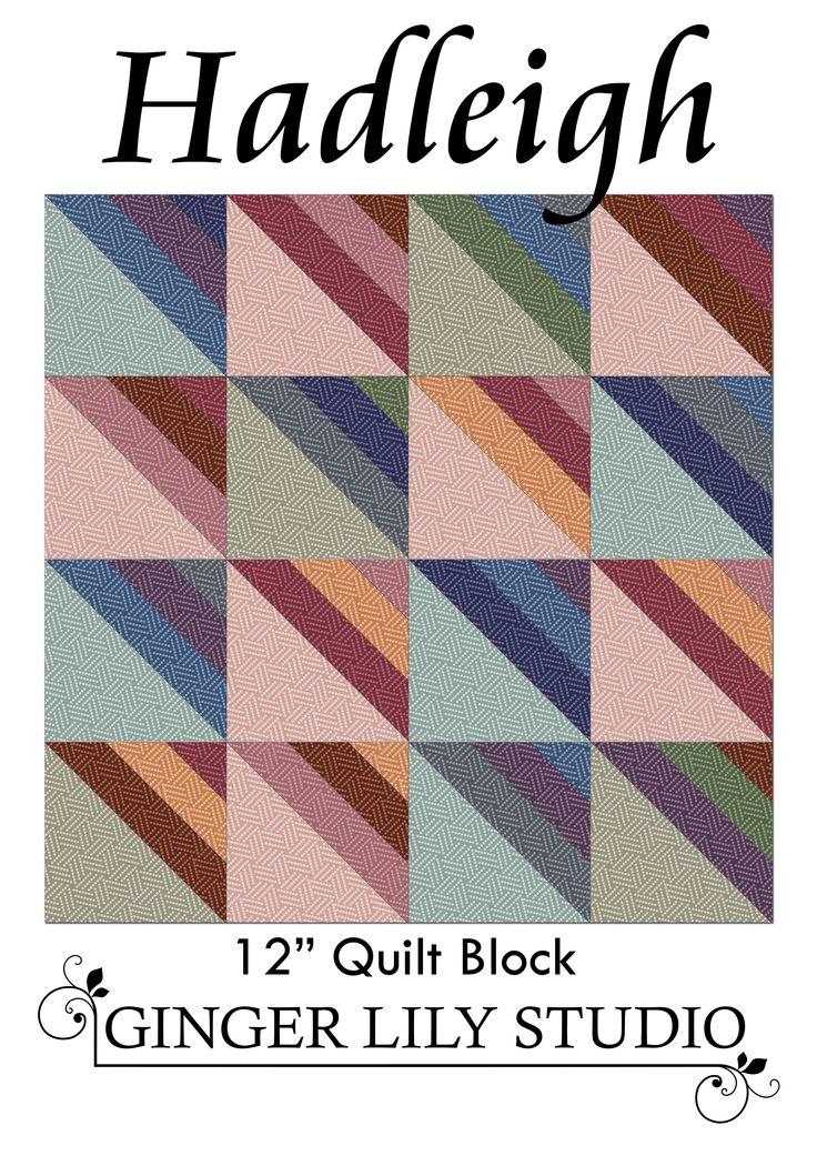 Hadleigh Roman Stripe 12in Quilt block