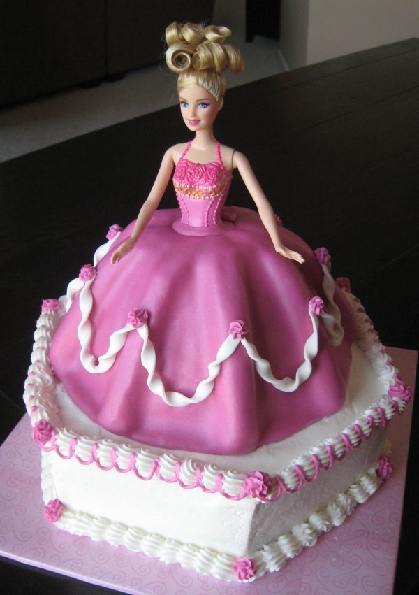barbie princess cake baking