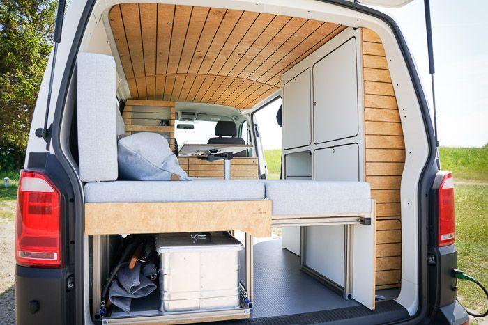 Bullifaktur Vw T4 T5 T6 Transporter Camper Wohnmobil Campervan Motorrad Bett Kuche Schrank Bett Bullifaktur Ca In 2020 Vw Transporter Conversions Van Life Diy Vw T4