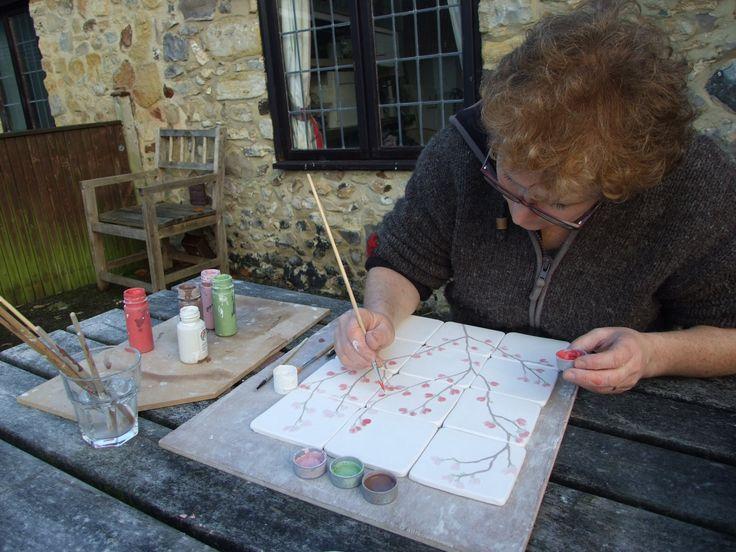 17 migliori idee su piastrelle rosa su pinterest bagno - Made a mano piastrelle ...