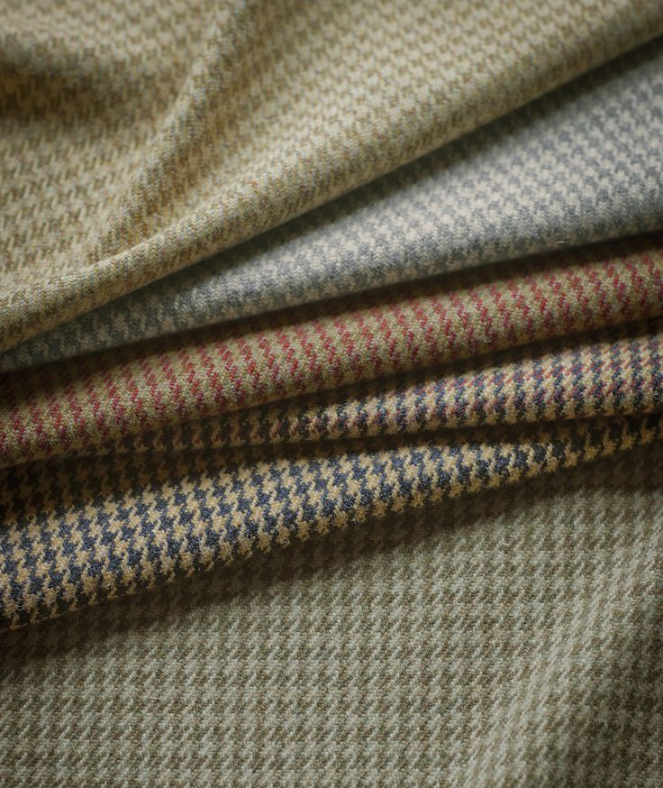 Our loveliest autumn fabric to date - Argyll check made of 100% lambswool and available in the colourways shown.