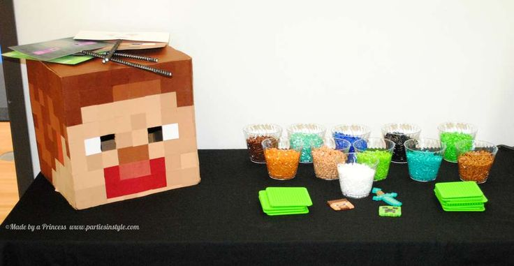 Minecraft Birthday Party | CatchMyParty.com