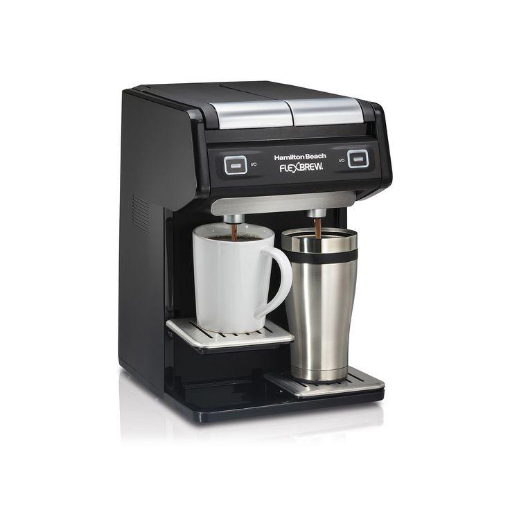 Hamilton Beach FlexBrew Dual Single-Serve Coffee Maker, Black
