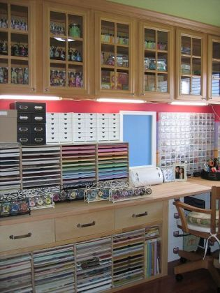 OMG, this is like the mother of all scrapbook rooms!