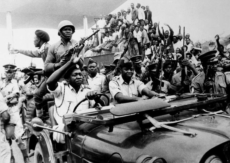 January 25,   1971: Uganda military coup  -   Maj. Gen. Idi Amin leads a coup to depose Milton Obote and become president of Uganda.