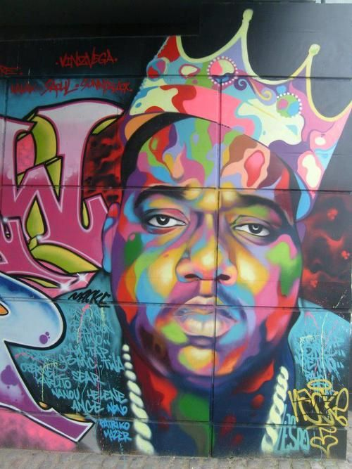 To be a king to take the shittiest circumstances and use for Biggie smalls mural brooklyn