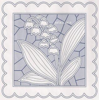 Delicate cut work pattern