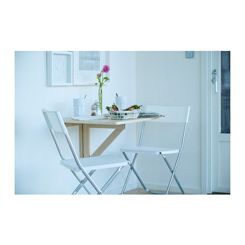 NORBO Wall-mounted drop-leaf table IKEA You save space when the table is not being used as it can be folded away.
