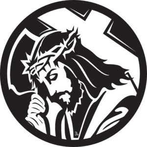 Jesus Carrying The Cross clip art - vector clip art online, royalty free & public domain