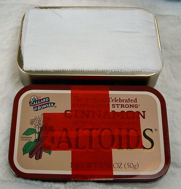Cool little pocket first aid kit.  These would be amazing little gifts for neighbors and friends. (Even the guys!)
