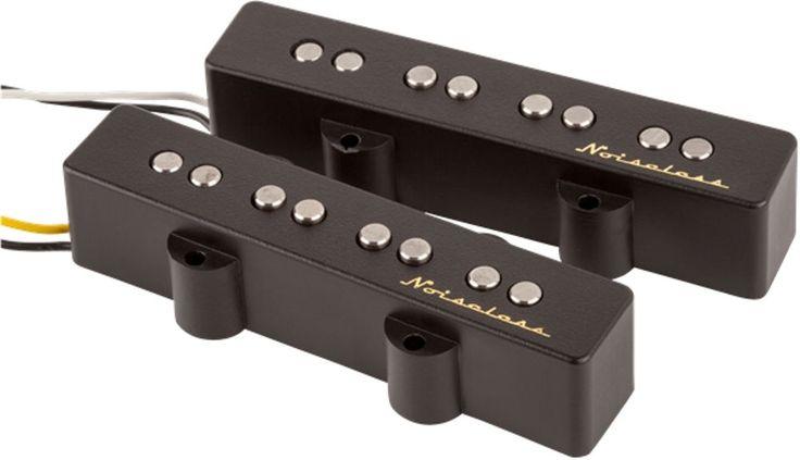 Genuine Fender Vintage Noiseless™ Jazz Bass Pickups  Set of Single-Coil Pickups #Fender #Pickups