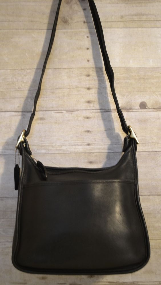 336ccdd2c7 Vintage Coach Legacy Zip Black Leather Cross Body Shoulder Bag Handbag J8P  9966  Coach  Crossbody