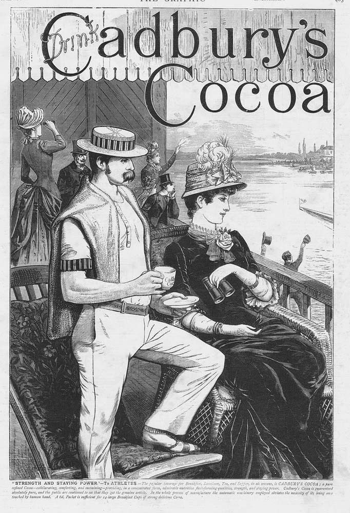 CADBURY'S COCOA Strength & Staying Power for Athletes - Antique Advert 1886 | eBay