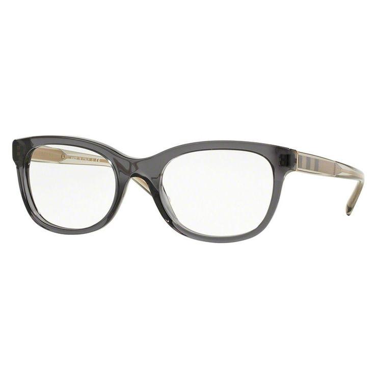 Burberry Women's BE2213F 3544 Grey Plastic Square Full-rim Eyeglasses   Overstock.com Shopping - The Best Deals on Optical Frames