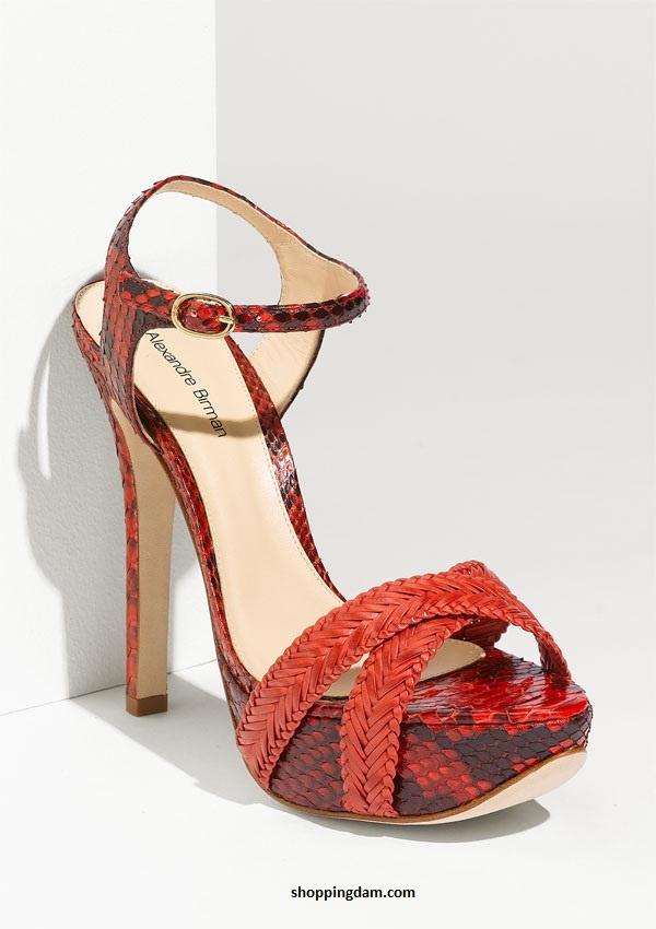 Miu Miu Glitter Ankle Strap Sandal