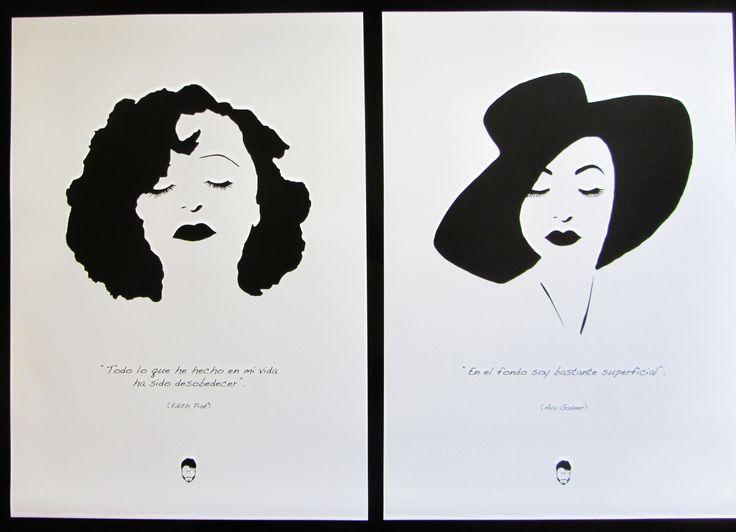 Edith Piaf y Ava Gadner