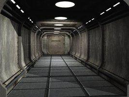 Sci Fi Corridor by Digger2000 ( http://beere.deviantart.com/art/Sci-Fi-Hallway-128459651, 2009 )