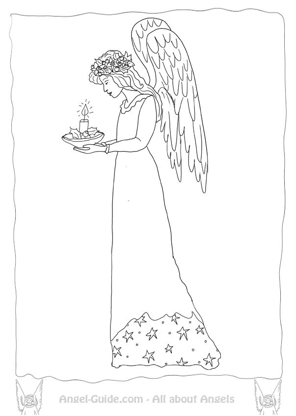 coloring book pages angels - photo#46