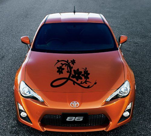 Auto car vinyl decal nice flower pattern for hood decor removable stylish sticker unique design any