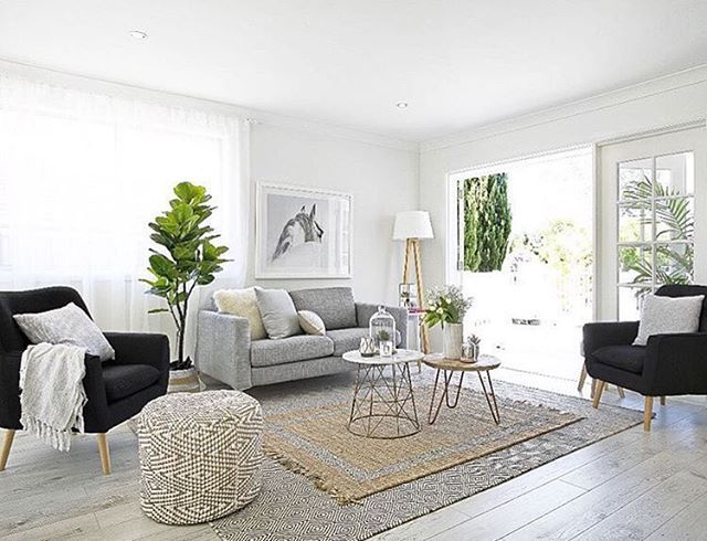 A little living room inspiration via the talented ladies at @threebirdsrenovations - loving the White Spirit print by Olive Et Oriel (available from www.simplestyleco.com.au)