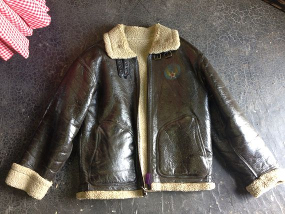 Vintage 90s Wilson's Leather Bomber Jacket on Etsy, $115.00 | Sold ...