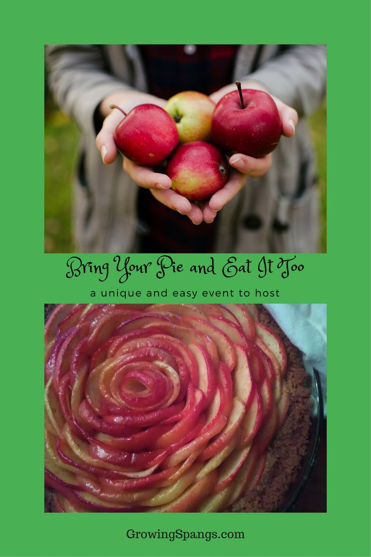 Bring Your Pie and Eat It Too – A Unique and Easy Event to Host – GrowingSpangs.com - A great fall or winter get together idea to host!  Great for the holidays or even for pi day!