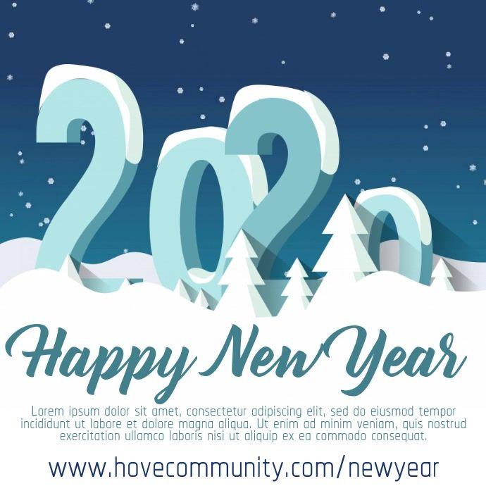 2020 New Years Video Template Flyer Social Media Template Social Media