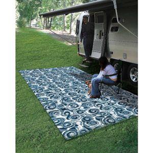 Camco Outdoor Mat, 8' x 16', Blue Swirl $50
