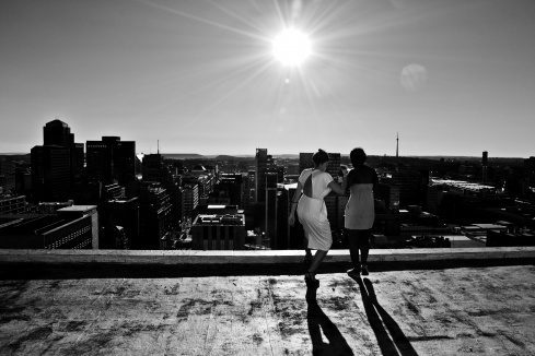 The roof of the Lister Building in the Johannesburg CBD