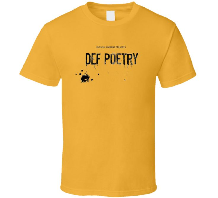 If you like this shirt, click Here to see our entire Tshirt collection  Order your very own Def Poetry Slam Russell Simmons Tv Show Fan T Shirt. It won't be around forever so buy yours here today! Shop our huge selection of high quality, graphic apparel. Each sports themed design is offered on a variety of sizes and styles including; t shirts, hoodies, aprons and even baby one-pieces! This product is pre-treated to ensure quality and longevity of the graphic. Buy one for yourself, or…