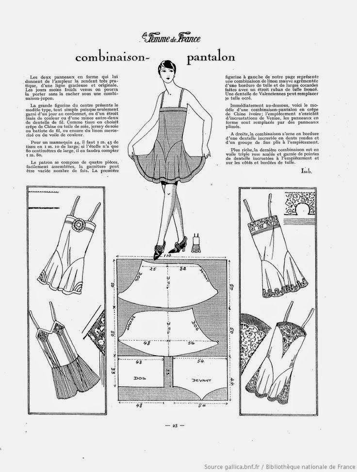 i love historical clothing: la Femme de France 1927 sewingpatterns