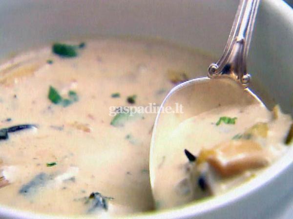 pievagrybiu sriuba: Soups, Inagarten, Food, Savory Recipes, Soup Recipe, Wild Mushrooms, Ina Garten, Cream Of Mushrooms, Mushroom Soup