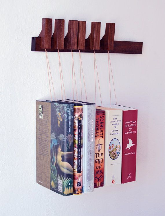 MINI Custom made wooden book rack / magazine rack in by OldAndCold