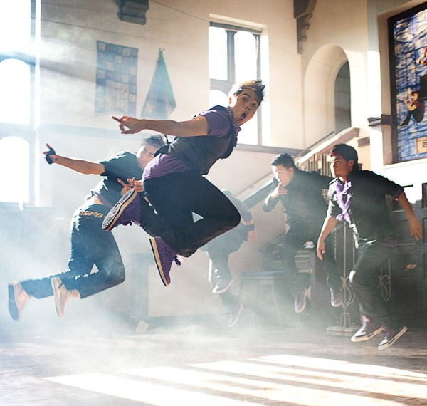 Quest Crew filming their commercial for ABDC season 4.