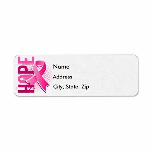 Best Breast Cancer Return Address Labels Images On