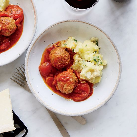 Meatballs in Tomato Sauce Recipe - Daniel Holzman | Food & Wine