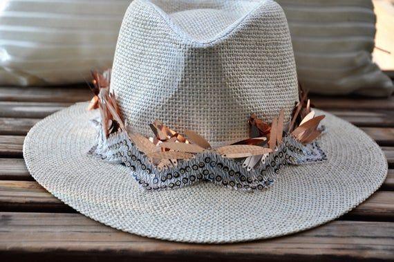 Burning man hat, Festival hat, Rave panama hat, Parade hat, Carnival straw hat, Gypsy hat, Summer boho hat, Burning man costumes, Pride hat – Products