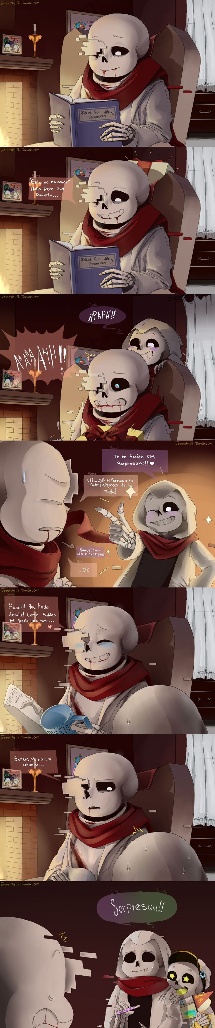 I was a bit confused bc it's not English but I still found the last panel funny.. I kinda get it? :P