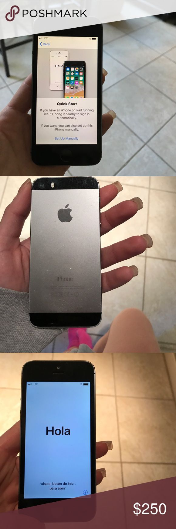 IPhone 5s sprint IPhone 5s. Only used for a couple of months still in literally perfect condition. iPhone is all cleared out and ready for use. (Comes w charger n headphones) SERVICE MUST BE SPRINT!!!🔈🔈 apple Other