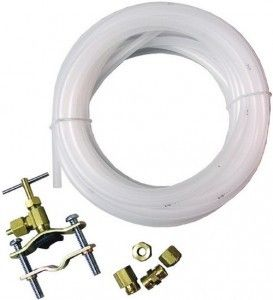 Refrigerator Ice Maker Water Line Installation Kit - You will need a fridge water line kit if you have no water valve already installed