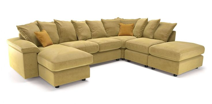 Plain Left Hand Facing Chaise Corner Sofa DFS: sale: £1595 from £3190