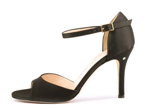 Black Satin Shoes