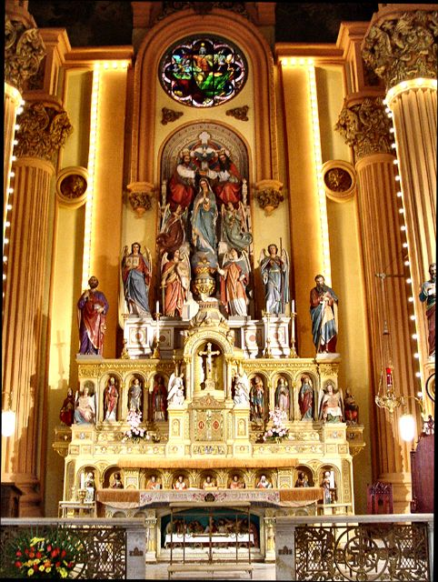 Thousands of Saints, people who love God with all their heart, mind, soul, and strength, are praying we will join them in endless joy in heaven FOREVER; Mary's Assumption Church, New Orleans, Louisiana
