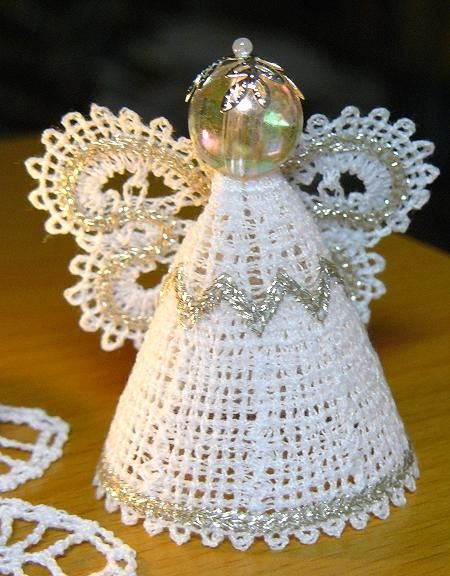 Advanced Embroidery Designs - FSL Battenberg Lace Miniature Angel