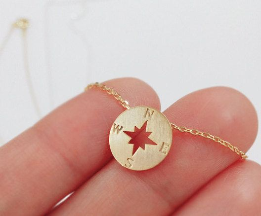 Compass necklace christmas gift best friend от ElliesButton