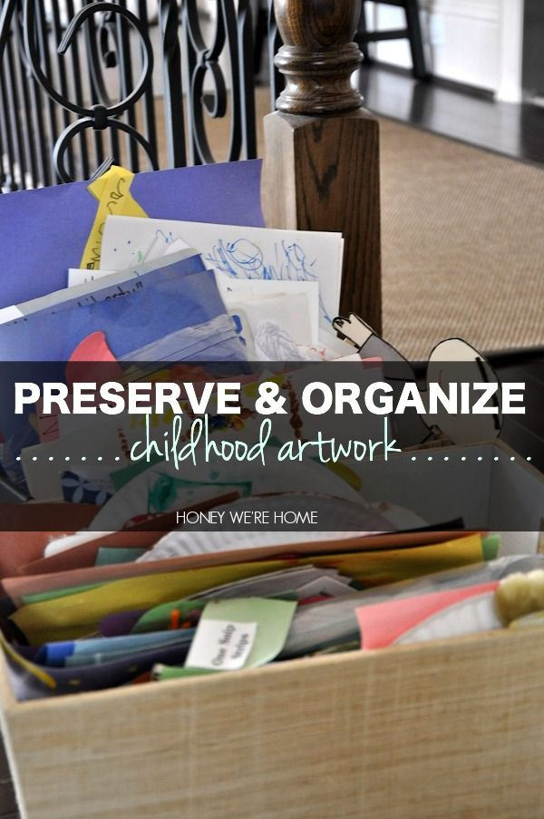 Great how-to with lots of ideas!  Organizing & Storing Kids Schoolwork & Art | Honey We're Home