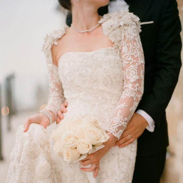 Gorgeous lace wedding gown@FSBridal
