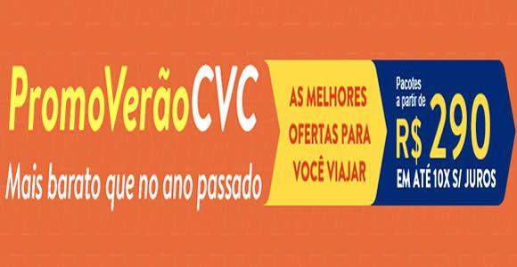 Promoção de verão CVC - Ofertas para 2017 a partir de R$ 290* #CVC #pacotes #viagens #2017 #promoção