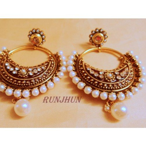 indian images gold runjhun pinterest for products unique shop danglers meena bali jewelry designer earrings best shopping jhumkas dreaminloud online by royal decorations on